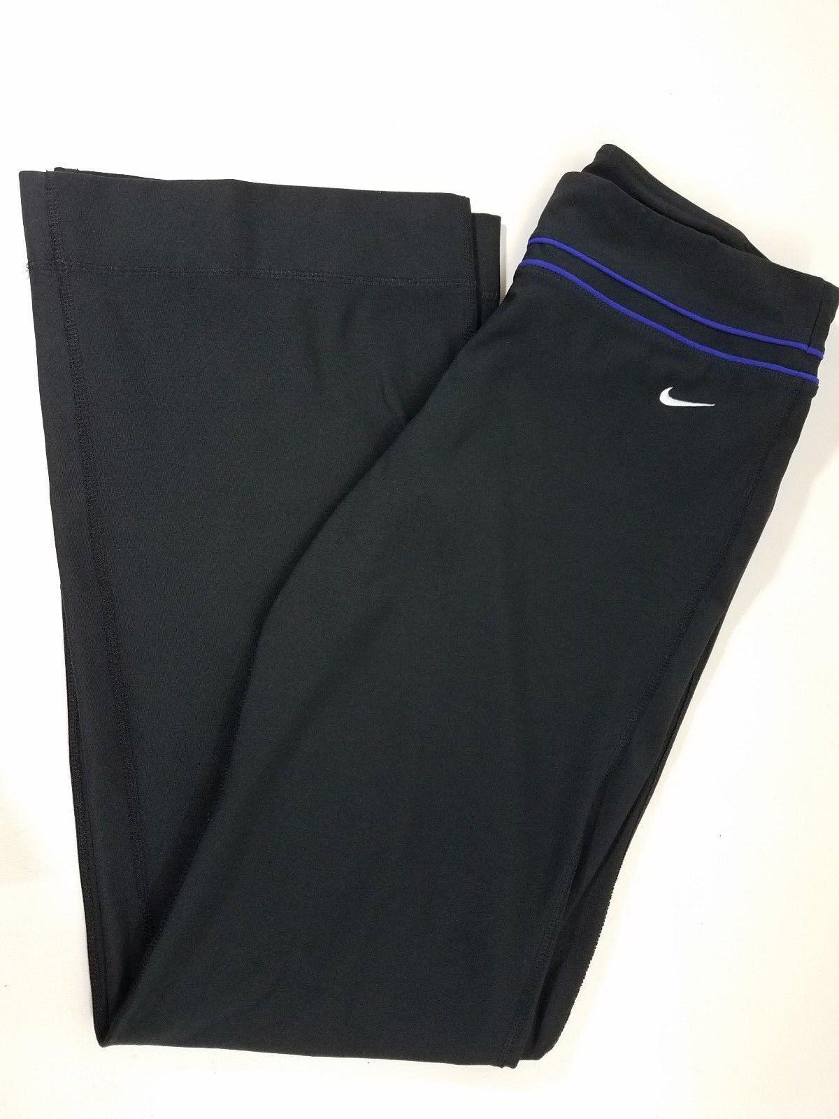 detailed look 52da6 352b2 S l1600. S l1600. Womens Nike Dri Fit Active Wear Workout Yoga Pants Black  Medium Poly Spandex