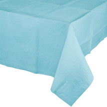 54 x 108 Tissue/Poly Tablecover Pastel Blue/Case of 6 - $29.76
