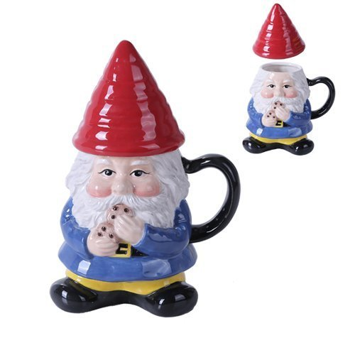 Ceramic Cute Mr Gnome Lidded Mug