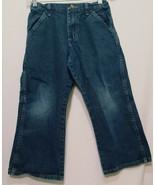 Blue Jeans Denim Boys Size 8 Husky Wrangler Legendary Gold Adjustable Wa... - $17.99