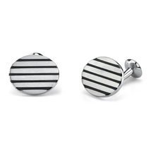 Surgical Stainless Steel Oval Brushed Finish Cufflinks - $54.99