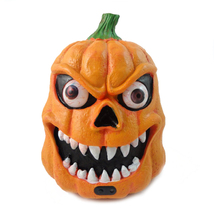 Halloween Plastic Pumpkin with LED Light Sound and Sensor Scary Decoration - $22.79