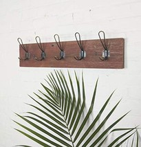 Vintage Rustic Wall Mounted Coat Rack –Authentic Barn Wood Hanger for To... - $65.02