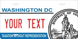 Washington DC 2017 License Plate Personalized Auto Bike Motorcycle Tag - $10.99+