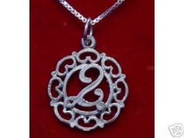 NICE New Sterling Silver .925 Pendant charm Initial Letter Q - $18.98