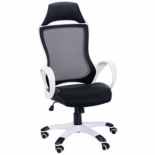 FurnitureR High Back Mesh Office Chair Ergonomic Executive ChairVComputer Desk A
