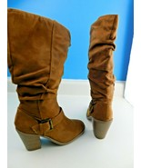 Mari A Womens Ma-Vermont Brown Microsuede Fashion Boots Size 6.5 M  - $19.79