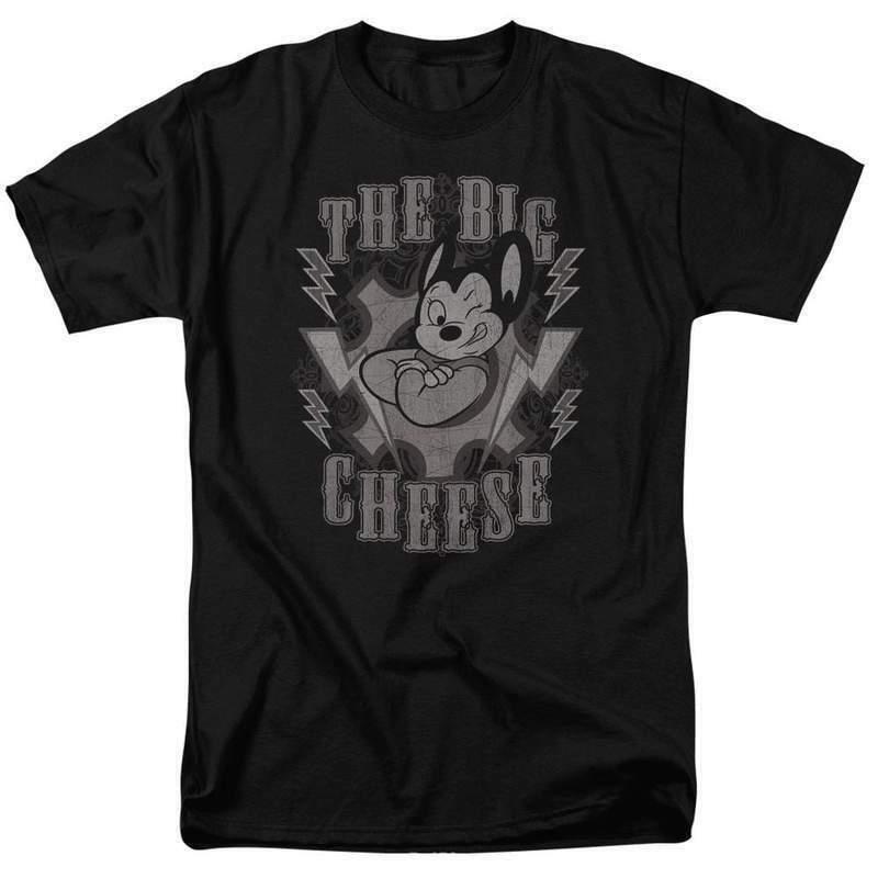 Mighty Mouse t-shirt The Big Cheese superhero retro cartoons graphic tee CBS924