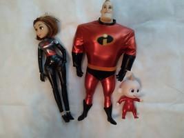 "* Disney Pixar Incredibles 2 "" Mr.Incredible & JACK-JACK "" Set Of 3 Doll - $28.04"