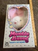 VINTAGE 1983 IWAYA WHITE MUMBLE BUNNY RABBIT STUFFED ANIMAL PLUSH TOY FL... - $38.61