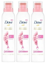 (3) Dove Body Wash Mousse Rose Oil Concentrated Bath Beauty Relax 10.3 Oz. - $21.77