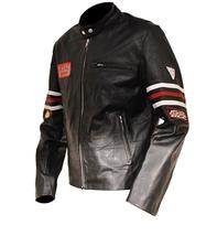 Mens House MD Dr Gregory House Black Biker Leather Jacket image 2