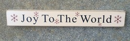 Primitive Wood Block 6081JTW - Joy to the World  - €4,50 EUR