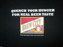 Brew City Quench your hunger for real beer taste T Shirt Size XL - $2.99