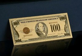 <OLD STYLE $100 DOLLAR BILL>1928 SERIES GOLD CERTIFICATE$100 Rep.*GOLD Ban - $13.82