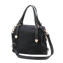 Woven Black Shoulder Bag