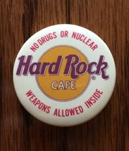 Vintage Hard Rock Cafe Pin No Drugs Or Nuclear Weapons Allowed - $4.99