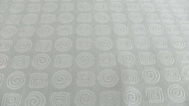 Light Green Circle Swirl Print Chenille Upholstery Fabric 1 1/2 Yd  R616 - $49.50