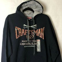 Craftsman Tools Hoodie Sweatshirt Mens L Black Pullover Warm Heavy Rugged  image 1