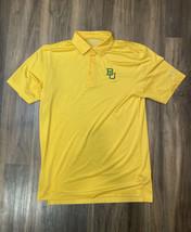 Baylor Bears Columbia Golf Yellow Green Polo Shirt Men's Size Medium Football - $34.64