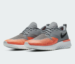 NIKE Odyssey React 2 Flyknit Women's Running Shoes AH1016 Cool Grey/Mang... - $78.99