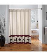 Wyatt Deer shower curtain rustic log cabin bath decor - $49.49