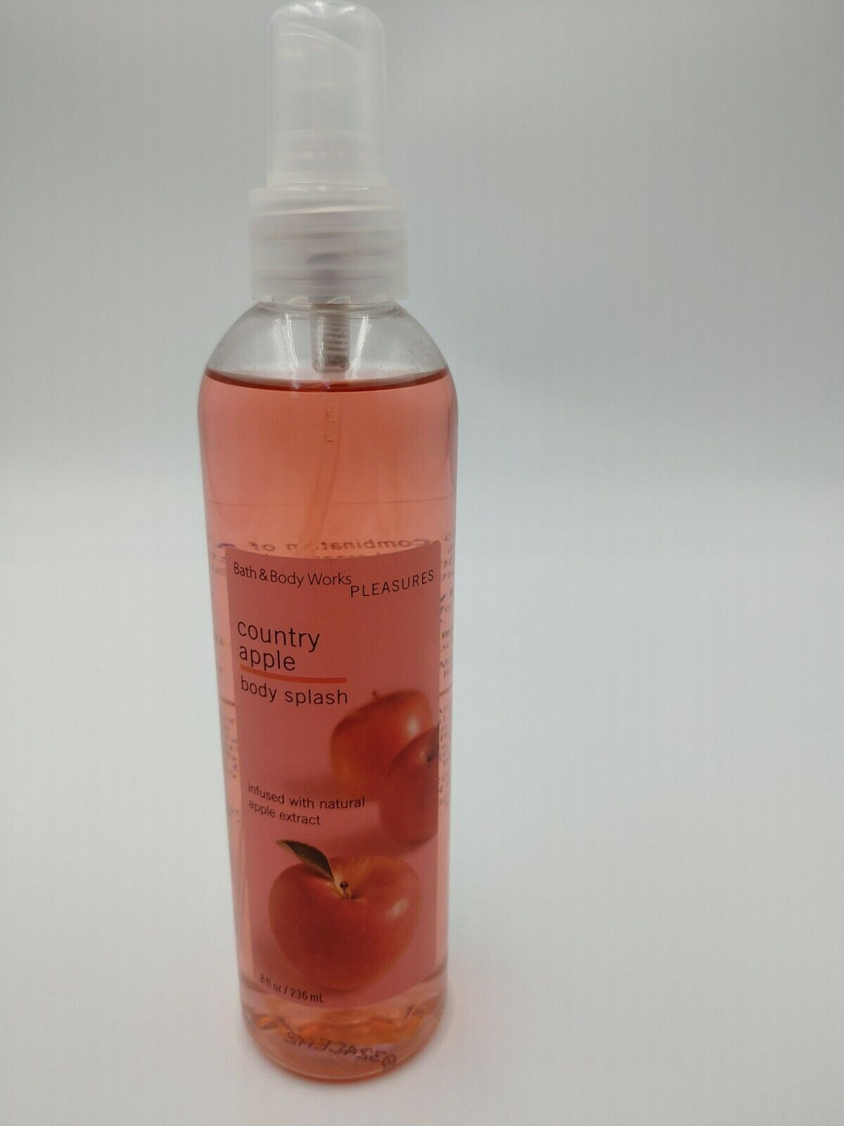 Primary image for Bath and Body Works Pleasures Country Apple Body Splash Spray 8oz Discontinued
