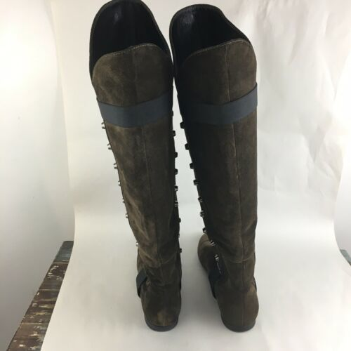 Vicini Tapeet Studded Knee Boots Brown Suede Italy 37 image 6