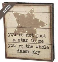Primitives By Kathy, LED Sign - Not Just a Star - $31.67