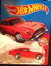 Hot Wheels 2016 Mattel Red Aston Martin 1963 DB5 Die Cast Car 101 Then & Now - $6.88
