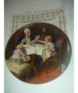 Norman Rockwell The Gourmet Plate 1985 Vintage - $12.99