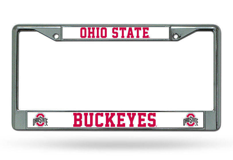 OHIO STATE BUCKEYES CAR AUTO CHROME METAL LICENSE PLATE FRAME NCAA
