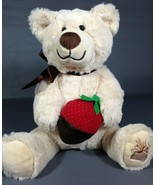 Edible Arrangements Berry Loved Bear Plush Toy Teddy Chocolate Strawberr... - $18.00