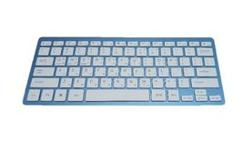 Actto Korean English Bluetooth Slim Keyboard Wireless Compact Tenkeyless (Blue) image 3