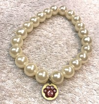 Dog Necklace Size M/L Pup Fashion Wear Single Strand Faux Beads Big Ones - $8.33