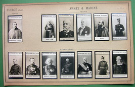 1900 (13) PHOTOS COLLECTION - Italy France Army Officers - $17.96