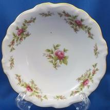 """Johann Haviland Moss Rose Berry Bowl White Red Roses Gold Trim 5"""" - $9.90"""