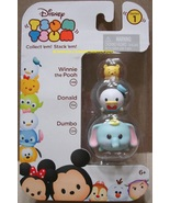 Disney Tsum Tsum 3 Pack Series Pooh 146 Donald 114 Dumbo 124 StackEm Minis - $8.00