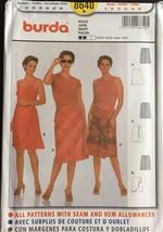Burda Sewing Pattern 8640 Skirt Ruffle Front Side Slit Size 8-18 New Uncut - $7.91