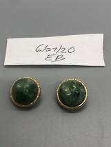 Beautiful Green Lisner Clip On Earrings - $19.80