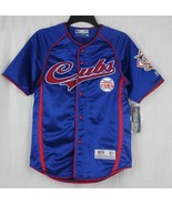 Chicago Cubs New unisex jersey TF true fan series blue red large sewn si... - $20.69