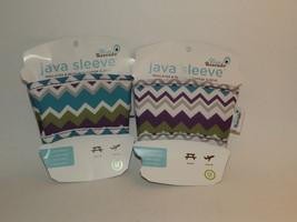 2 Blue Avocado Java Sleeve Reusable Insulated Coffee Sleeve Wrap Holder (R) - $15.83