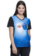 Finding Nemo Cherokee Tooniforms Disney V Neck Scrub Top TF627 FNDN - $15.97+