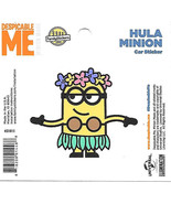 Despicable Me Hula Minion Figure Peel Off Car Sticker Decal NEW UNUSED - $2.95