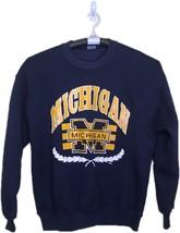 Vintage Jerzees Athletic Michigan Sweatshirt Adult L Blue Wolverines Men... - $24.99