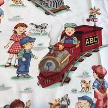 I Think Can Michael Miller Fabric Material Kids Train Railroad 42 X 36 B... - $12.30