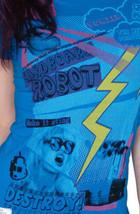 Cardboard Robot Women's Blue New Pollution Destruct Ozone Layer Myself T-Shirt image 1