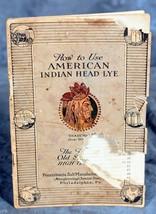 American Indian Head Lye 1931 booklet by Pennsy... - $9.99
