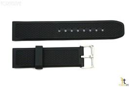 24mm Pesado Italiano con Textura Goma Negra Correa para Reloj de Pulsera... - $25.24