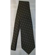 Gucci Geometric Zig Zag 100% Silk Neck Tie Italy Preowned Brown Tan - $19.00